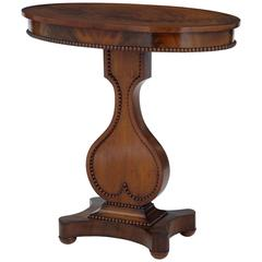 19th Century Oval Mahogany Occasional Table