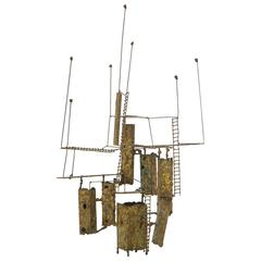 Tabletop Sculpture in the Style of Curtis Jere, Beautifully Patinated Bronze