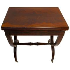 Early 19th Century English Regency Game and Side Table