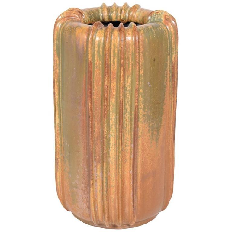 Large Arne Bang Stoneware Vase, 1940s For Sale