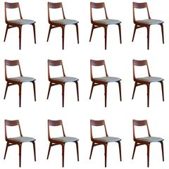 Vintage Danish Teak Boomerang Style Dining Chairs by Erik Christensen