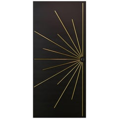 Modernist Black Single Entry Door to order