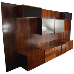Danish Rosewood Wall Unit by Cadovius for Cado