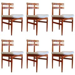 Set of Six Vintage Danish Teak Dining Chairs