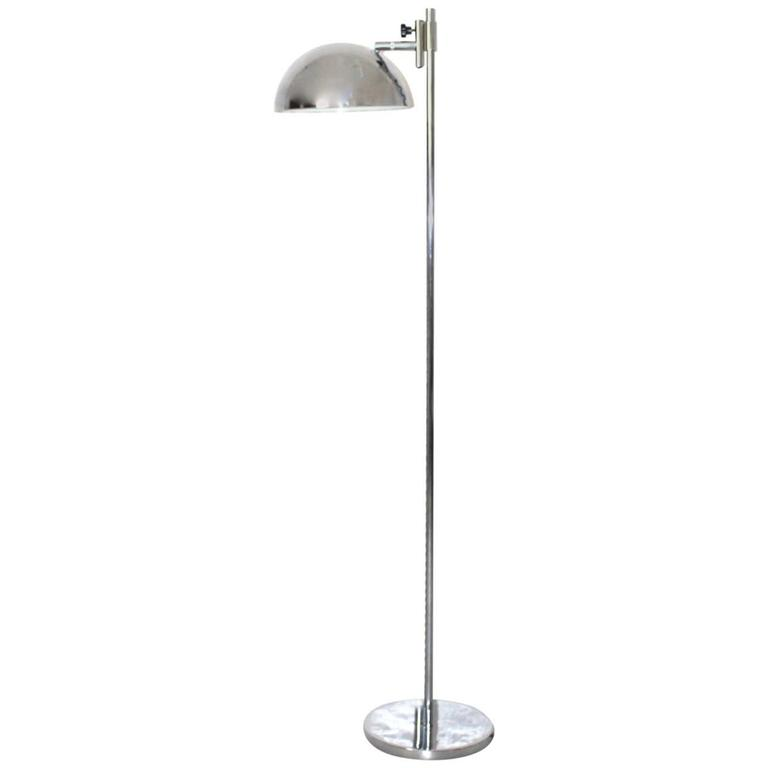 Chromed Floor Lamp, Italy, 1960s