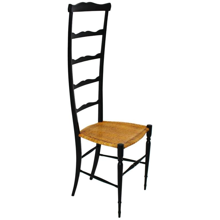 High Back Ladder Chair by Chiavari, Italy, 1940s