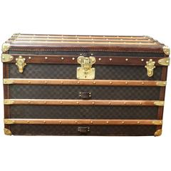 1900s Louis Vuitton Damier Canvas Steamer Trunk/ Malle Courrier