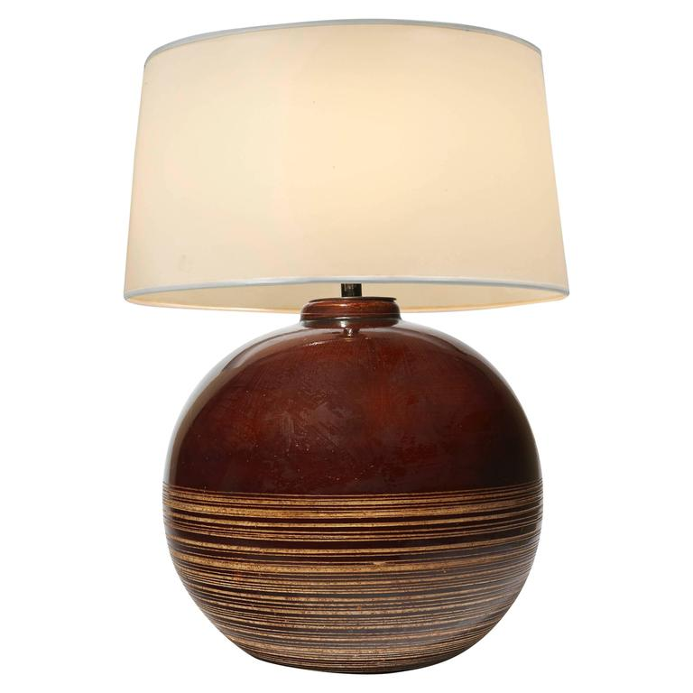 Table Lamp by Jacques Adnet, circa 1938
