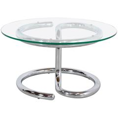 Paul Tuttle Anaconda Table in Glass and Chrome, 1970s