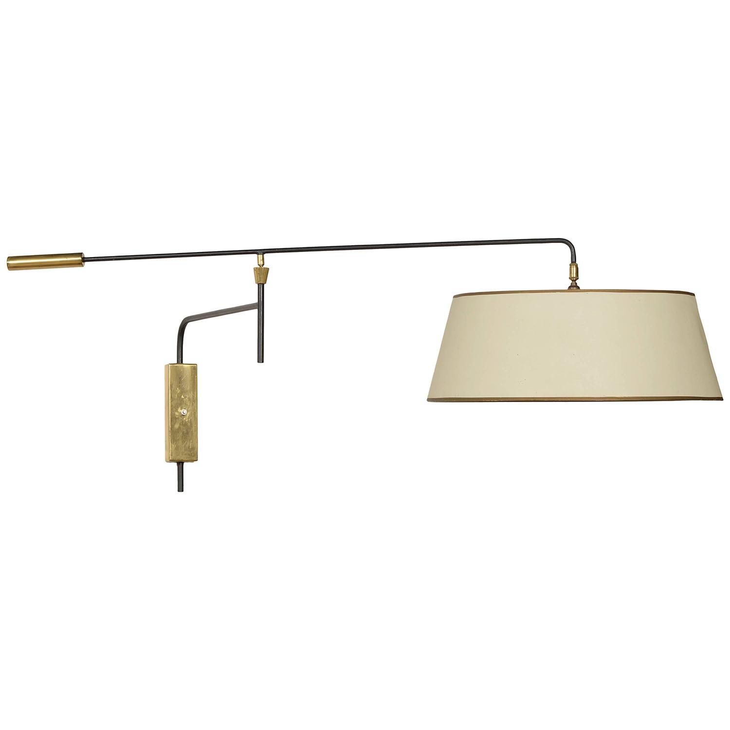 Hanging Wall Lamps Fixture : Arlus 1950s Hanging Wall Fixture For Sale at 1stdibs