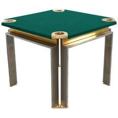 Game Table by Romeo Rega in Brass and Stainless Steel