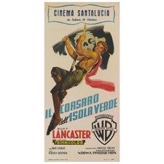 """""""The Crimson Pirate / Il Corsaro Dell Isola Verde"""" Original Italian Movie Poster"""