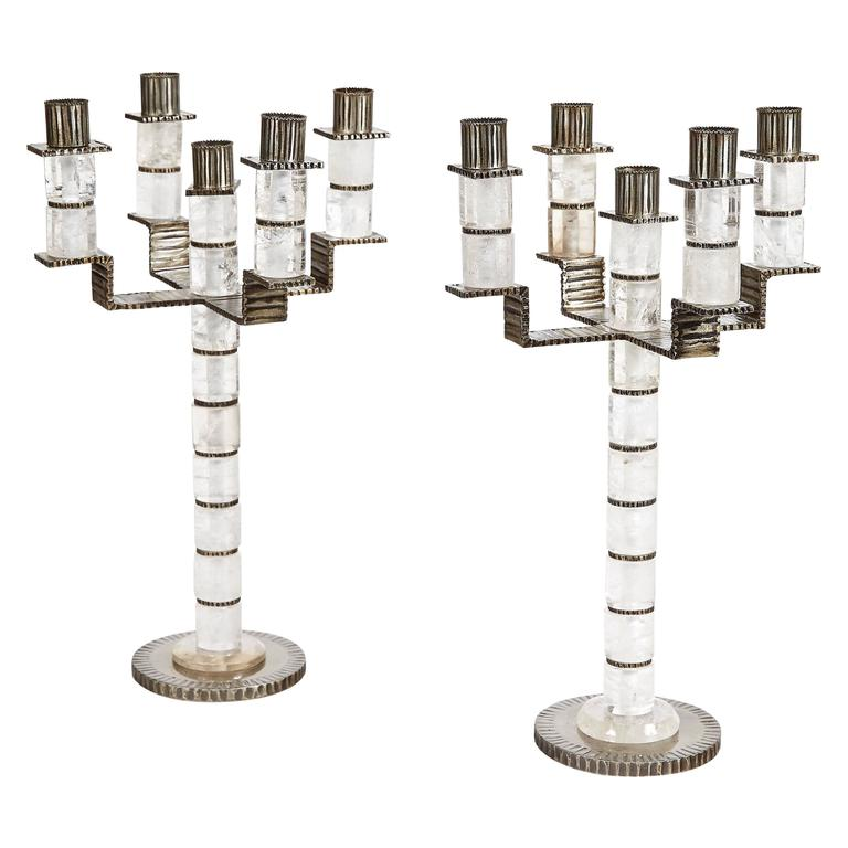 Five branches candelabra by sylvain subervie 2003 for sale at 1stdibs - Chandelier a 5 branches ...