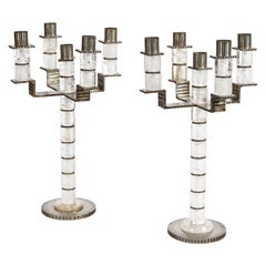 A Pair of Five Branches Candelabra by Sylvain Subervie, 2003