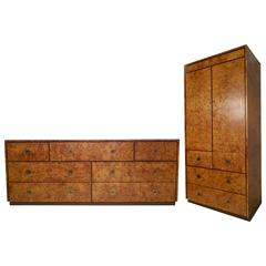 Exquisite Burl Wood Set by John Stuart