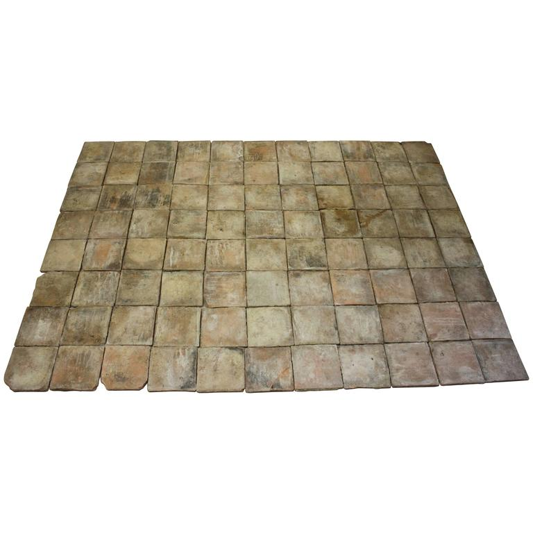18th Century French Terracotta Tiles For Sale