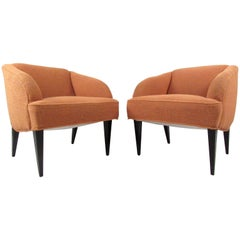 Pair Vintage Modern Club Chairs