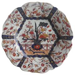 Mason's Ironstone Desert Plate Fence and Bowl Pattern Hand-Painted, circa 1825