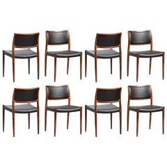 Set of Eight N.O. Moller Dining Chairs