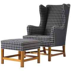 Kaare Klint Wingback Chair and Stool