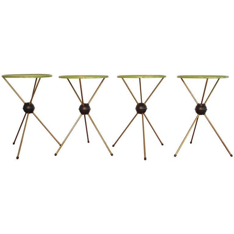 Set of Four Sputnik Tripod Tables