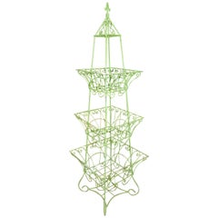 Handsome English Three-Tier Plant Stand