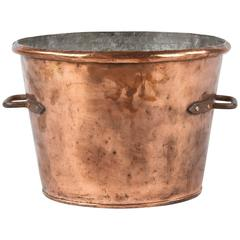 French Copper Cauldron, 19th Century
