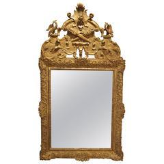 Period Louis XIV Giltwood Mirror, circa 1700, Provence