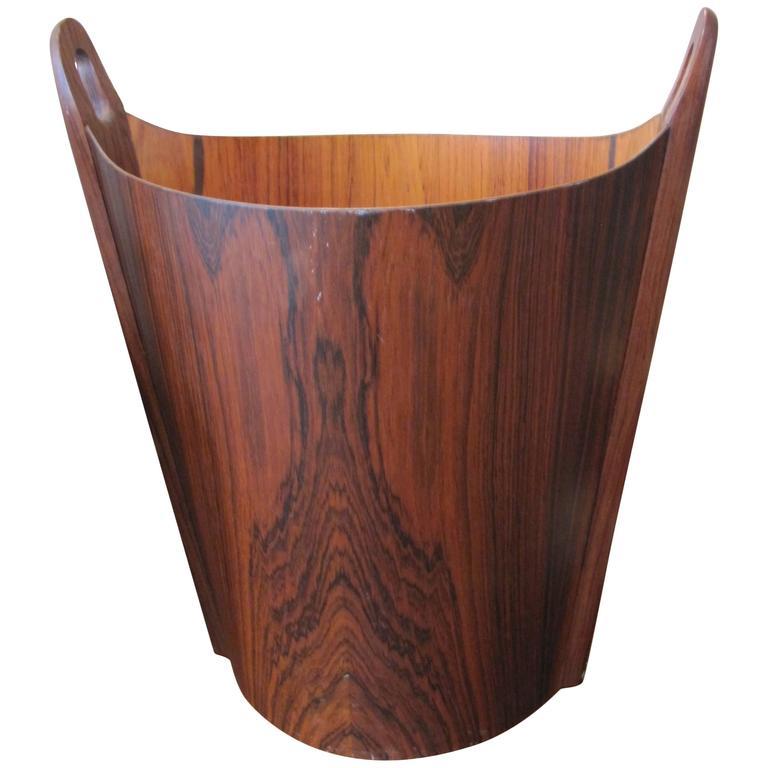 Very Chic APS Heggen Norwegian Rosewood Paper Basket For Sale