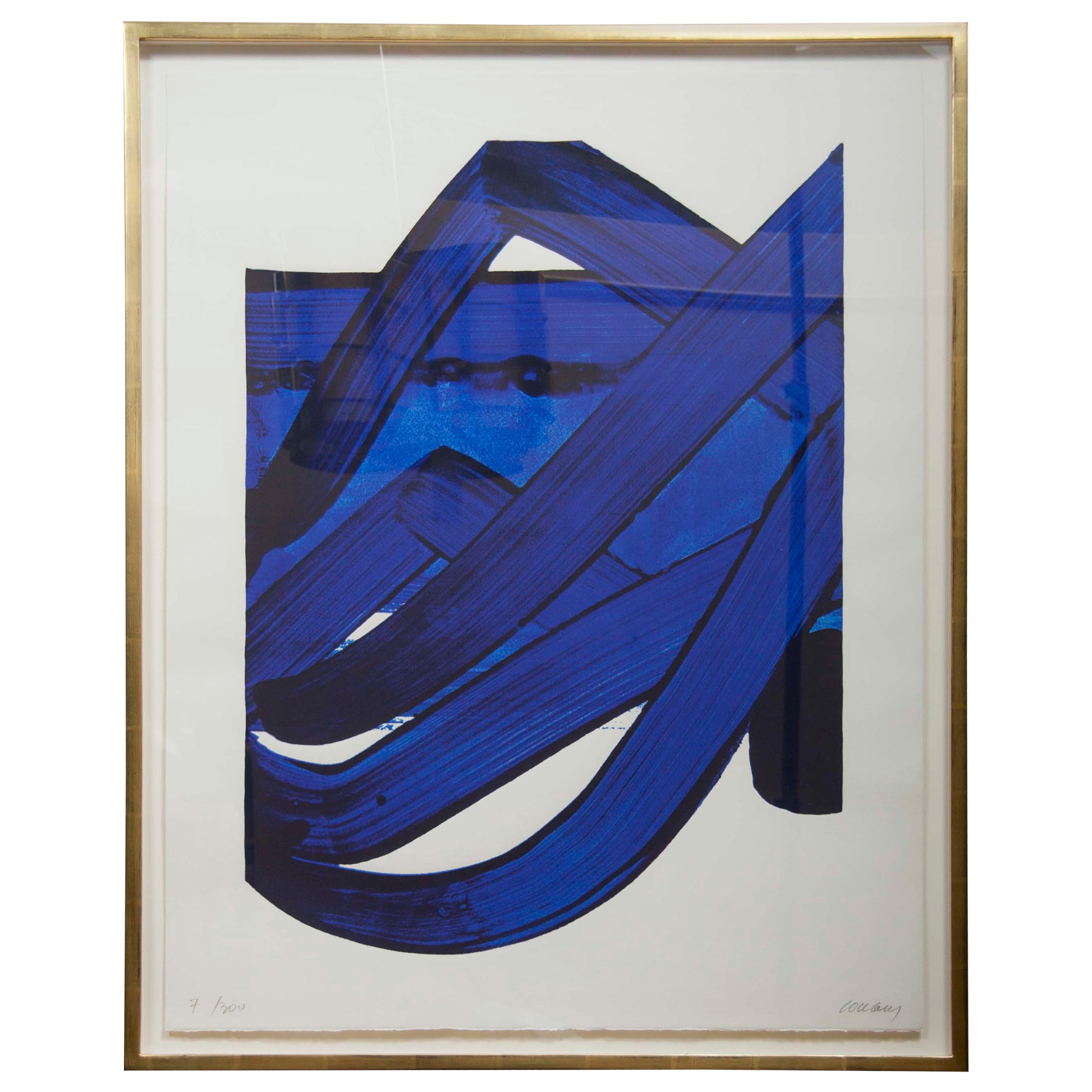 Lithograph by Pierre Soulages from the Official Arts Portfolio of XXIV Olympiad