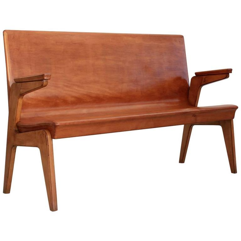 italian beechwood bench at 1stdibs