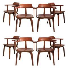 Set of Eight Walter Gropius and Ben Thompson W199 Armchairs