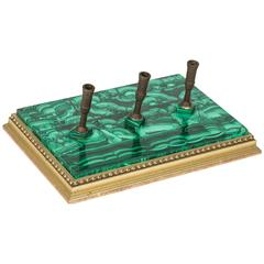 Malachite Desk Pen Holder