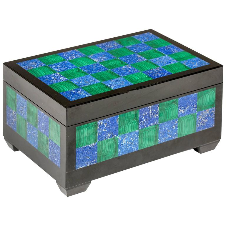 Malachite, Lapis and Onyx Box
