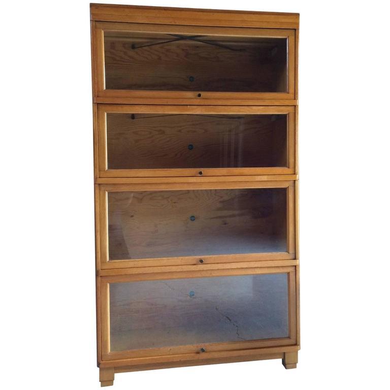 Original Globe Wernicke Golden Oak Bookcase Stacking Gunn