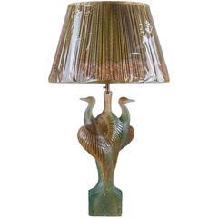 Daum Crystal Heron Lamp