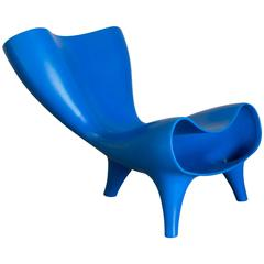 1983, Marc Newson, Nowadays Rare Electric Blue Orgone Chair