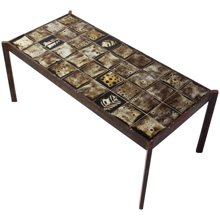 Ceramic Coffee Table by Mado Jolain 1950s For Sale at 1stdibs