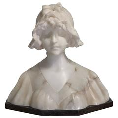 'Lady in Lace' Marble Bust by Anton Nelson, circa 1895