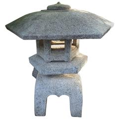 Japanese Lantern Classic Yukimi Style Carved from Granite