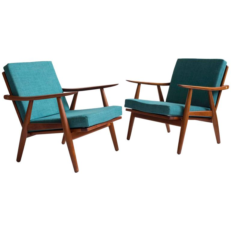 Pair of Hans J. Wegner GE270 Chairs for GETAMA