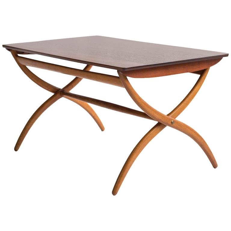 Ole Wanscher Adjustable Coffee Table For Rud Rasmussen 1951 For