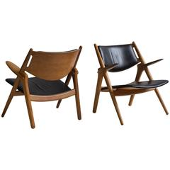 Hans J. Wegner Pair of CH 28 Easy Chairs