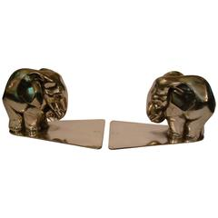 Pair of Art Deco Elephant Bookends by George Nilsson for Gero Holland