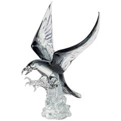 Large Murano Glass Eagle Sculpture