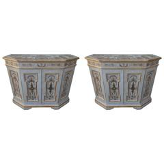 Pair of Chinoiserie Decorated Painted Cabinets