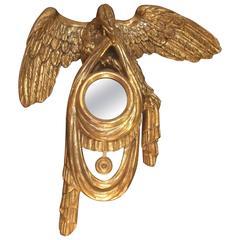 Striking Gold Leaf Eagle Motife Mirror