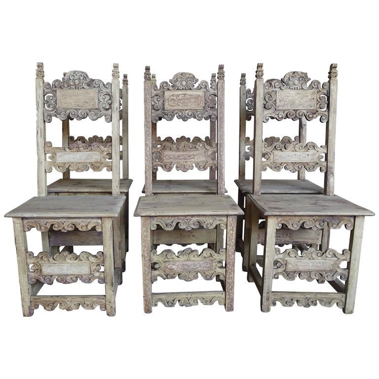 Set of 18th Century Italian Dining Chairs