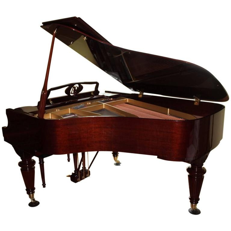 Louis XVI Style Mahogany Baby Grand Piano with Automatic Player