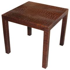 Gregorius Pineo Iron And Wood Side Table At 1stdibs